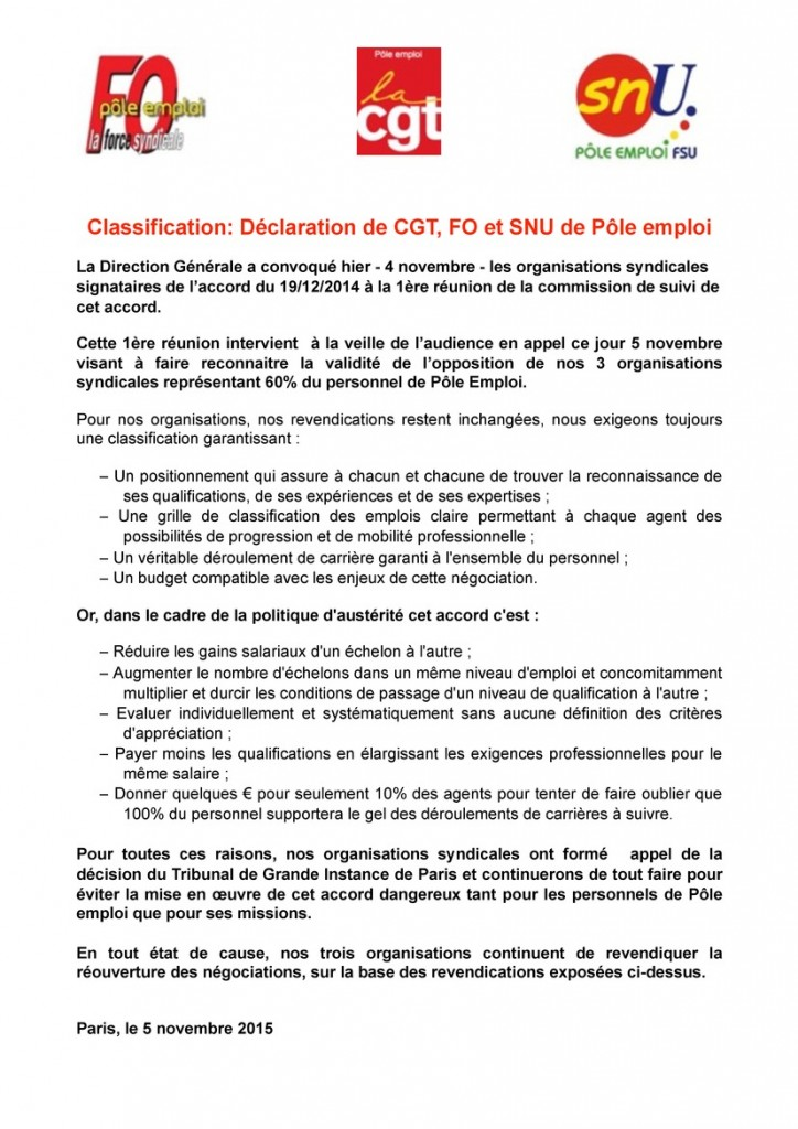 communique_snu_cgt_fo_classification_05112015