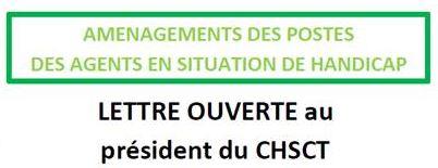 Aménagement des postes TH – Lettre ouverte au président du CHSCT