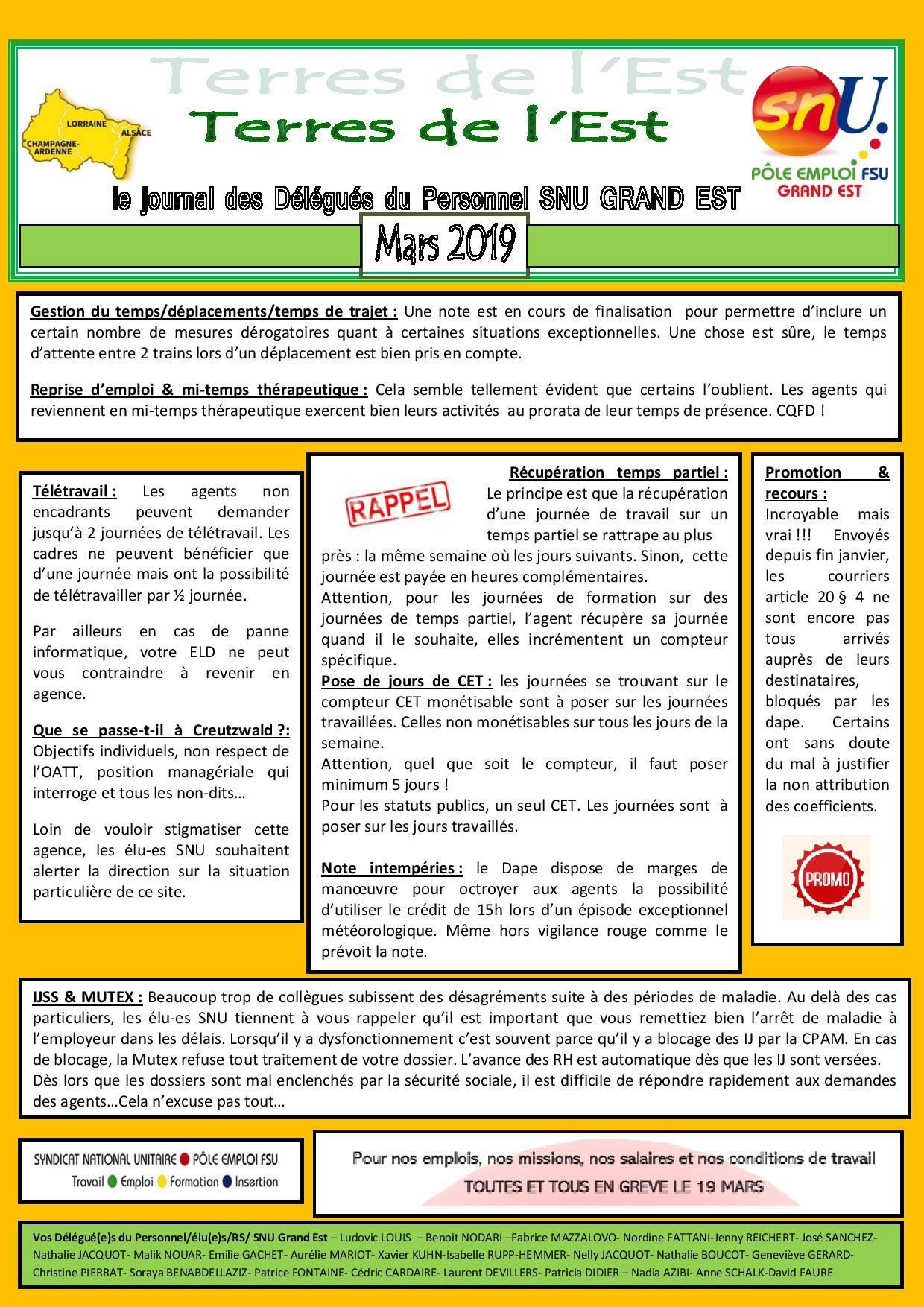 642eaf361a3 Délégués du personnel – Elections prof. du 8 novembre 2019 votez SNU ...
