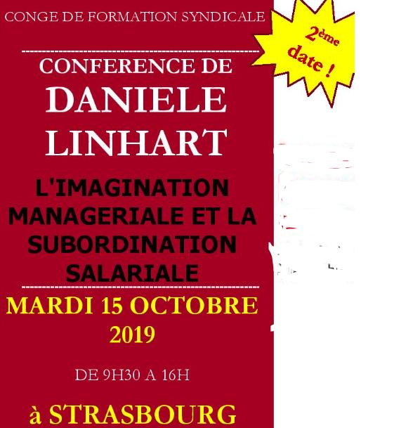 Congé de formation syndicale «Travailler sans s'abimer» le 15 octobre à Strasbourg