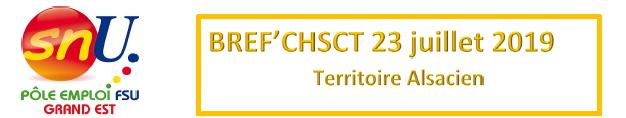 Bref' CHSCT alsace du 23 juillet 2019