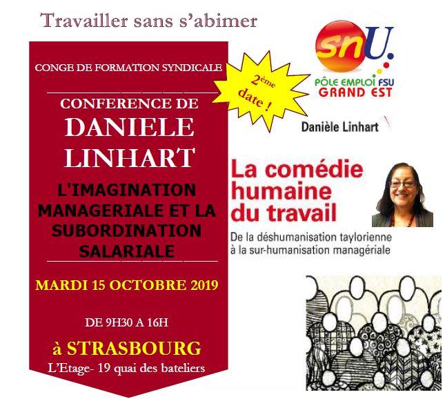 Conférence de Danièle LINHART 2ème date !