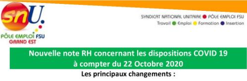 NOTE RH-COVID au 22 oct.