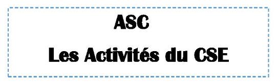 Activités CSE-syst. de points