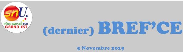 Dernier BREF'CE 5 novembre 2019